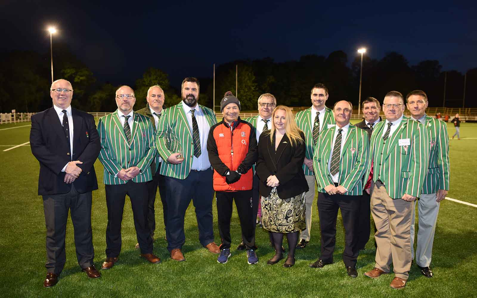 Eddie Jones at Cheshunt Rugby Club